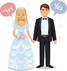 Wife,Flower,Caucasian Ethnicity,Beauty,Cheerful,Bouquet,Romance,Bridegroom,Married,Young Adult,Love,Silhouette,Cartoon,Family,Togetherness,Human Face,Flirting,Suit,Veil,Ceremony,Kissing,Smiling,Males,Men,Dating,Couple - Relationship,Husband,White,Beautiful,Two Parents,Vector,Illustration,Bride,Women,Dress,Happiness,Wedding,Portrait,Heterosexual Couple,Girls,Engagement,Females,Celebration,Wedding Ceremony,Two People,Day,Adult,People