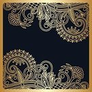 Backgrounds,Gold Colored,Blue,Curve,Revival,Curled Up,Abstract,Art,Greeting Card,Elegance,Skill,Antique,Vector,Invitation,Pattern,Decor,Retro Styled,filigree,Ornate,Illustration,Victorian Style,Dark,Baroque Style,Vignette,Old-fashioned,Luxury,Decoration,Arabic Style,Floral Pattern