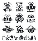 Business,Picnic,Barbecue Grill,Barbecue,Fire - Natural Phenomenon,premium,Rubber Stamp,Vector,Beef,Design,Style,Sign,Illustration,Fork,typographic,Commercial Kitchen,Meat,Seal - Stamp,Spatula,Summer,Restaurant,Computer Graphic,Nature,Badge,Design Element,Symbol,Bottle,Outdoors,Black And White,Isolated,Heat - Temperature,Menu,Kitchen,Domestic Kitchen,Insignia,Food,Equipment,Set,Steak,American Culture,template,Label,Cooking,Retro Styled,Text