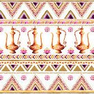 Pattern,handdrawn,Repetition,Gold Colored,Kettle,Jug,handpainted,Watercolor Painting,Decoration,Arabic Pattern,Striped,Oriental Pattern,Pitcher,Backgrounds,Triangle Shape