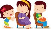 Child,Senior Adult,Sharing,Pregnant,Cute,Remote,Arranging,Illustration,People,Pleading,Bus,Vector,Giving,Sitting