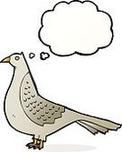 Cheerful,Drawing - Activity,Doodle,Bizarre,Clip Art,Rough,Illustration,Vector,Pigeon,freehand,Thought Bubble,Cute,Bird
