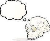 Cheerful,Doodle,Bizarre,Clip Art,Drawing - Activity,Rough,Vector,freehand,Thought Bubble,Illustration,Halloween Skull