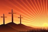 Cross,Hill,Praying,Morning,Backgrounds,Mountain Range,Sun,Grass,Brown,Landscapes,Easter,Religion,Nature,Orange Color,Concepts And Ideas,Holidays And Celebrations
