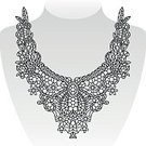 Pattern,Embroidery,Necklace,Nature,Celebration,Modern,Vector,Print,Design,Isolated,Floral Pattern,Fashion,Macro,Retro Styled,Collar,Decoration,Black Color,Women,Drawing - Art Product,Ornate,Daisy,Human Neck,Old-fashioned,Style,Indigenous Culture,Beauty,Elegance,Neckline,Lace,Old,Illustration,Textured Effect,Flower,Funky,White,Backgrounds,Ethnic,Decor,Art,Cultures,Symbol