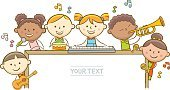 Child,Horizontal,Copy Space,Cut Out,Characters,Line Art,Music,Message,Doodle,Guitar,Piano Key,Placard,Singer,Whiteboard,Empty,Cartoon,Blackboard,Orthographic Symbol,Illustration,Advertisement,Musical Instrument,Blank,Poster,Trombone,Trumpet,Violinist,Billboard,Keyboard Player,Playing,Violin,Guitarist,Arts Culture and Entertainment,Musician,Drummer,Vector,Drum - Percussion Instrument,Empty,Text,Holding