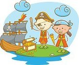Child,Adventure,Characters,Childhood,Line Art,Doodle,Ship,Cute,Sea,Sailing Ship,Sword,Cartoon,Sailor,Illustration,Island,Treasure Chest,Pirate - Criminal,Nautical Vessel,Playing,Playful,Boat Captain,Vector,Dressing Up,Hat