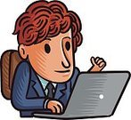 Office,Office Building,Business,Businessman,White Collar Worker,Happiness,Cheerful,Business Person,Success,Teamwork,Vector,Colleague,OK Sign,Coworker,Animated Cartoon,Comfortable,Entrepreneur,Gesturing,Cartoon,Redhead,Laptop,Computer,Desk,Desktop PC,OK
