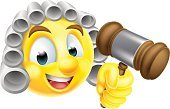 Smiley Face,Computer Icon,Symbol,Happiness,Human Head,Clip Art,Wig,Law,Cartoon,White Background,Gavel,Hammer,Trial,Human Face,Vector,Characters,Humor,Illustration,Cheerful,Emoticon,Smiling,Yellow,Courtroom,Lawyer,Judge - Law