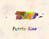 Puerto Rico,Map,Abstract,Color Image,Illustration,Painted Image,Watercolor Painting