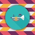Jazz Music,Symbol,Technology,Illustration,Internet,Shape,Trumpet,Blowing,Vector,Sign
