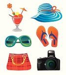 Sunglasses,Hat,Tourist,Symbol,Camera - Photographic Equipment,Isolated,Travel Destinations,Vector,Travel,Summer,Ilustration,Bag,Single Object,Ice Cream,Tourism,Design,Slipper,Style,Design Element,Color Image,Objects/Equipment,Travel Backgrounds,Travel Locations,Household Objects/Equipment,Dessert,Resting,Set