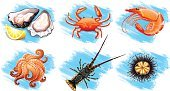 Backgrounds,Clip Art,Computer Graphic,Image,Part Of A Series,Cutting,Single Object,Collection,Food,Seafood,Nature,Animal,Vector,Lifestyles,Mammal,Lemon,Endangered Species,Wildlife
