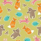 Childishness,Fox,Hare,Bird,Bear,Animal,Hedgehog