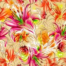 Backgrounds,Rose - Flower,Flower,Floral Pattern,Chamomile,Daisy,Leaf,Abstract,Chrysanthemum,Water Lily,Seamless,Multi Colored,Illustration