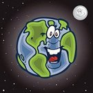 Cartoon,Earth,Human Eye,Moon,Space,Human Face,Planet - Space,Star - Space,Religious Icon,Smiling,Sketch,Vector,Happiness,Cheerful,Human Tongue,Ilustration,Land,Physical Geography,continents,Vector Icons,Travel Locations,Nature,Illustrations And Vector Art,Sea