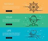 Lifestyles,Vector,Human Hand,Steering Wheel,Straight,Single Line,Web Banners,Illustration,tints,Outline,Control,Interface Icons,Rudder,Ruler,Green Color,Blue,Motivation,Yellow,Survival