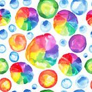 Illustration,Multi Colored,Pattern,Seamless,Spotted,Backgrounds,Watercolor Paints,Circle,Ink,Rainbow,Shape,Abstract