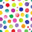 Pattern,Seamless,Spotted,Multi Colored,Backgrounds,Blob,Rainbow,Watercolor Paints,Abstract