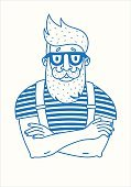 Barber,Fun,Sign,People,Growth,Modern,Mustache,Hairstyle,T-Shirt,Insignia,Vector,Beard,Elegance,Abstract,Striped,Suspenders,Fisherman,Fashion,Logo Elements,Human Face,Horn Rimmed Glasses,Men,Illustration