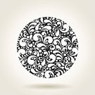 Plant,Pattern,Style,Silhouette,Swirl,Old-fashioned,Nature,Curve,Textured,Floral Pattern,Ornate,Decoration,Simplicity,Design,Drawing - Art Product,Classic,Elegance,Circle,White,Design Element,Computer Graphic,Illustration,Art,Beautiful,Obsolete,Beauty,Abstract,Leaf,Symbol,Vector,Spiral,Shape,Black Color,Retro Styled,Old