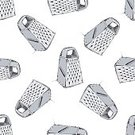 Steel,Equipment,Cheese,Cooking,Vector,Handle,Kitchen Utensil,Pattern,Illustration,Chrome,Metallic,Grater,Food,Rectangle,Kitchenware Department,Ingredient,Seamless,Doodle,Appliance,Personal Accessory,Metal Grate,Shiny,Stainless Steel,Fuel and Power Generation,Backgrounds