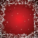 Red,Backgrounds,Paint,Celebration,Cold - Temperature,Decoration,Curve,Season,Small,Floral Pattern,flourishes,Christmas,White,Snowflake,Vector,Abstract,Merry Xmas,Ice,Single Line,Holiday,Computer Graphic,Illustration,Frame,Christmas Ornament,Ornate,Single Flower,Flourish,Winter,Wallpaper Pattern,Silver Colored,Snow,Paintings