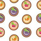 Celebration,Cute,Old-fashioned,Cartoon,Birthday,Design,Backgrounds,Pattern,Vector,Food,Seamless