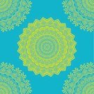 Floral Pattern,Decoration,Mandala,Retro Styled,India,Pattern,Design Element,Vector