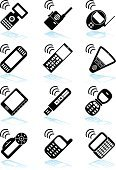 Mobile Phone,Equipment,Wireless Technology,Mobility,Symbol,Telephone,Computer Icon,Black Color,Vector,Icon Set,White,Line Art,Technology,Black And White,Media Player,Ilustration,Leisure Games,Computer Graphic,Vector Icons,Illustrations And Vector Art,Design Element