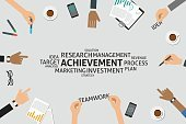 Teamwork,Research,Infographic,Business,Vector,template,Strategy,Marketing,Finance,Single Word