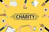 Vector,Infographic,template,Business,Single Word,Infinity,Sharing,Currency,Giving,Donation Box