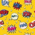 Comic Book,Cartoon,Vector,Exploding,Humor,Bubble,Wallpaper Pattern,Pattern,Seamless,Wallpaper