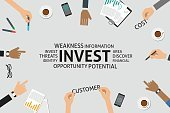 Infographic,template,Business,Vector,Single Word,Investment,Opportunity,Finance,Customer