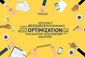 Vector,Infographic,template,Business,Single Word,Efficiency,Achievement,resource,Order,Strategy,utilization