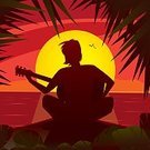 Freedom,Tropical Climate,One Person,Positive Emotion,Music,Solitude,Tranquil Scene,Focus on Shadow,Silhouette,Back Lit,Shadow,Sunset,Loneliness,Men,Lifestyles,Rear View,Greeting Card,Illustration,Ideas,Sun,Sunrise - Dawn,Lake,River,Island,Vector,Cartoon,Sadness,Depression - Sadness,Grief,Serene People,Romance,Despair,Playing,Play,Guitar,Sitting,Musical Instrument,Dawn,Concepts,Hope,Remote,Painted Image,Sunlight,Outdoors,Season,Cliff,Sea,Water,Summer