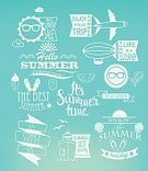 Summer,Vector,Decoration,Text