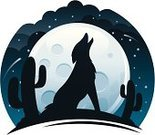 Wolf,Coyote,Moon,Howling,Desert,Cactus,Southwest USA,Vector,Moon Surface,Silhouette,Saguaro Cactus,Full Moon,Night,Moonlight,Ilustration,Animals In The Wild,Wildlife,Landscape,Landscapes,Nature,Illustrations And Vector Art,night sky,Rural Scene