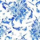 Backgrounds,Illustration,Blue,Watercolor Painting,Floral Pattern,Pattern,Seamless,Flower