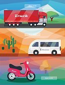 Freight Transportation,Illustration,Truck,Commercial Land Vehicle,Multi Colored,Business,Cargo Container,Backgrounds,Service,Vector,Land Vehicle,Car,Transportation,Traffic,Shipping,Technology,Mini Van