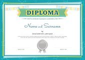 Watermark,Admiration,Cute,Education,Congratulating,Multi Colored,Success,Document,Award Ribbon,Green Color,Honor,Graduation,Frame,Finishing,Award,Illustration,Elegance,Seal - Stamp,Wealth,Child,Printout,Diploma,Achievement,Security,Vector,Plan,template,Certificate