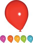 Balloon,Single Object,Red,Yellow,Vector,Blue,Isolated,Green Color,Vector Cartoons,Isolated Objects,party equipment,Illustrations And Vector Art