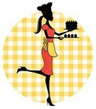 Cake,Baker,Chef,Cupcake,Women,Cartoon,Teenage Girls,Silhouette,Female,Cute,Apron,Food,Chef's Hat,Pastry,Birthday Cake,Vector,Ilustration,Baked,Profile View,Elegance,Fashion,Pattern,Dress,People,Checked,Characters,Style,One Person,Food And Drink,Vector Cartoons,Baking,Illustrations And Vector Art,People