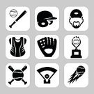 Sports Glove,Sports Bat,Sport,Playing Field,Ball,Activity,Set,Symbol,Outdoors,inning,Sports Helmet,Defending,Award,Action,Exercising,Equipment,Competition,Computer Icon,Cup,Baseball - Sport,Collection,Playing,Baseball - Ball,Illustration,Competitive Sport,People,Sports Team,Black Color,Sign,Hat,Incentive,Pitcher,Referee,Home Run,Trophy,Single Object,Fun