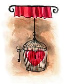 Painted Image,Love,Illustration,Symbol,Isolated,Trapped