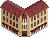 Illustration,Architecture,Urban Scene,Vector,Isometric,Three-dimensional Shape,Apartment,Building Exterior,City Life,House,Window,Residential Building,Computer Graphic,Facade,Mansion,Home Ownership