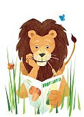 268534,No People,Magazine,January,Healthy Lifestyle,Flexing Musceles,Illustration,Food,Butterfly - Insect,Healthy Eating,Vegetarian Food,Vegan,Lion - Feline