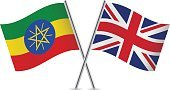 Ethiopia Flag,Britain Flag,Cut Out,UK,Horn of Africa,Ethiopia,No People,Banner,British Flag,Sign,Illustration,Computer Icon,Symbol,Banner - Sign,Ethiopian Flag,Small,Flag,Two Objects,Curve,Pole,Vector,National Flag,Waving,White Background