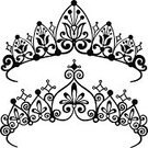 Tiara,Crown,Vector,Silhouette,Jewelry,Ilustration,Isolated,Ornate,Royalty,Swirl,Art,Royal Person,Scroll Shape,Decoration,Elegance,Computer Graphic,Majestic,Fashion,Beauty And Health,Illustrations And Vector Art