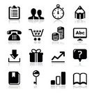 Internet,Web Page,Black Color,Application Software,Symbol,www,Order,Businessman,Stopwatch,Clipboard,Icon Set,Store